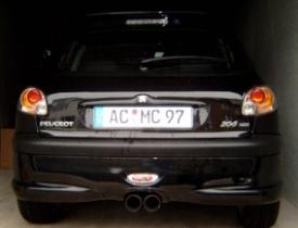 Peugeot 206 NSL klar komplett Heck