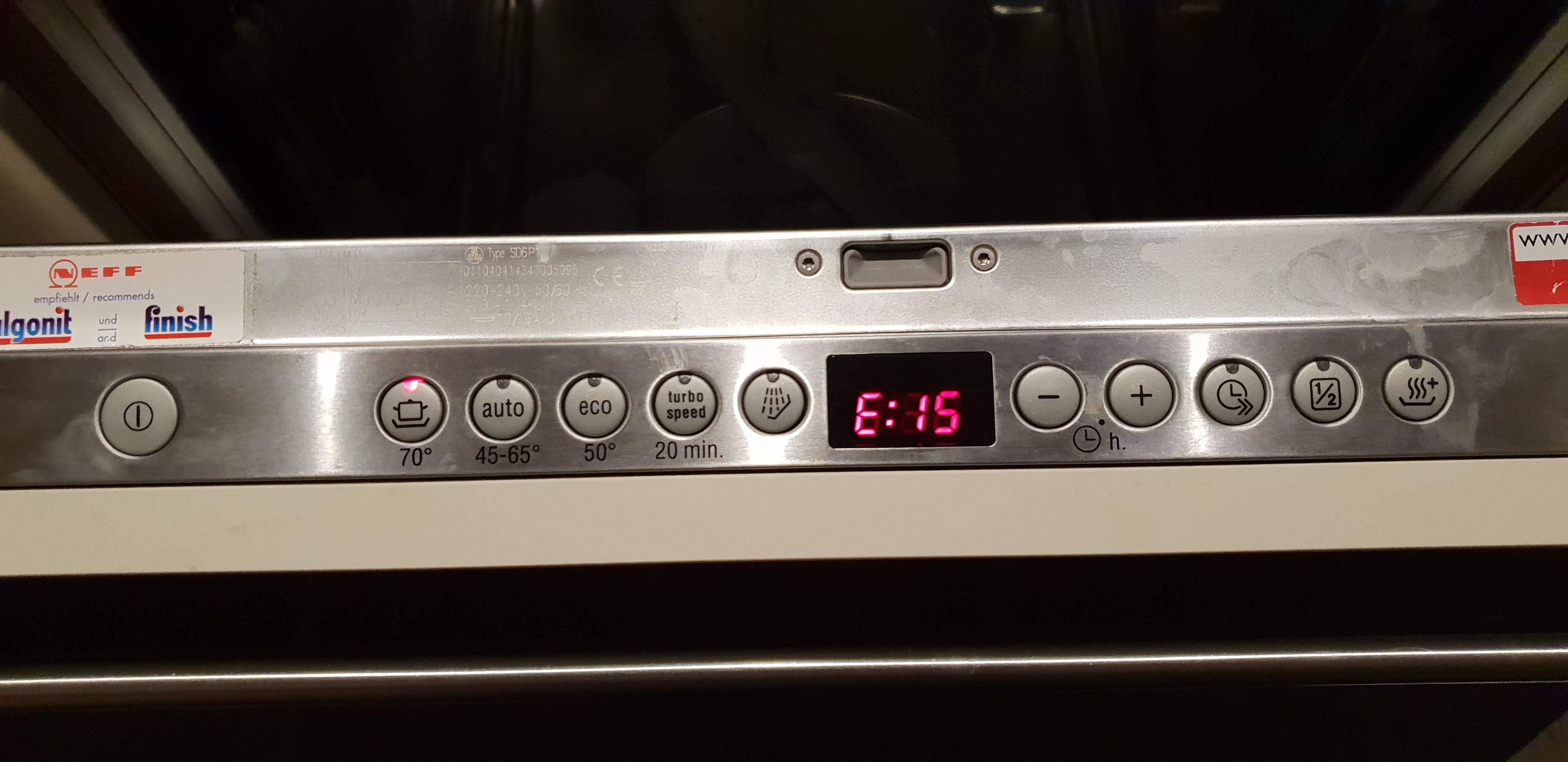 Spülmaschine symbole bedeutung Spülmaschine